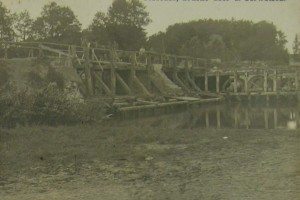 Jessenez, Brucke uber d. Serwetsch / Ясенец, мост через реку Сервечь