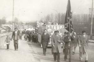 Колонна завода Станкопринадлежностей, Барановичи, 1979