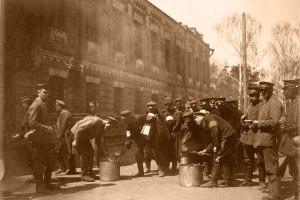 Пленные солдаты, Барановичи, 1915