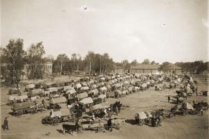 Барановичи. Беженцы на плацу, 1916