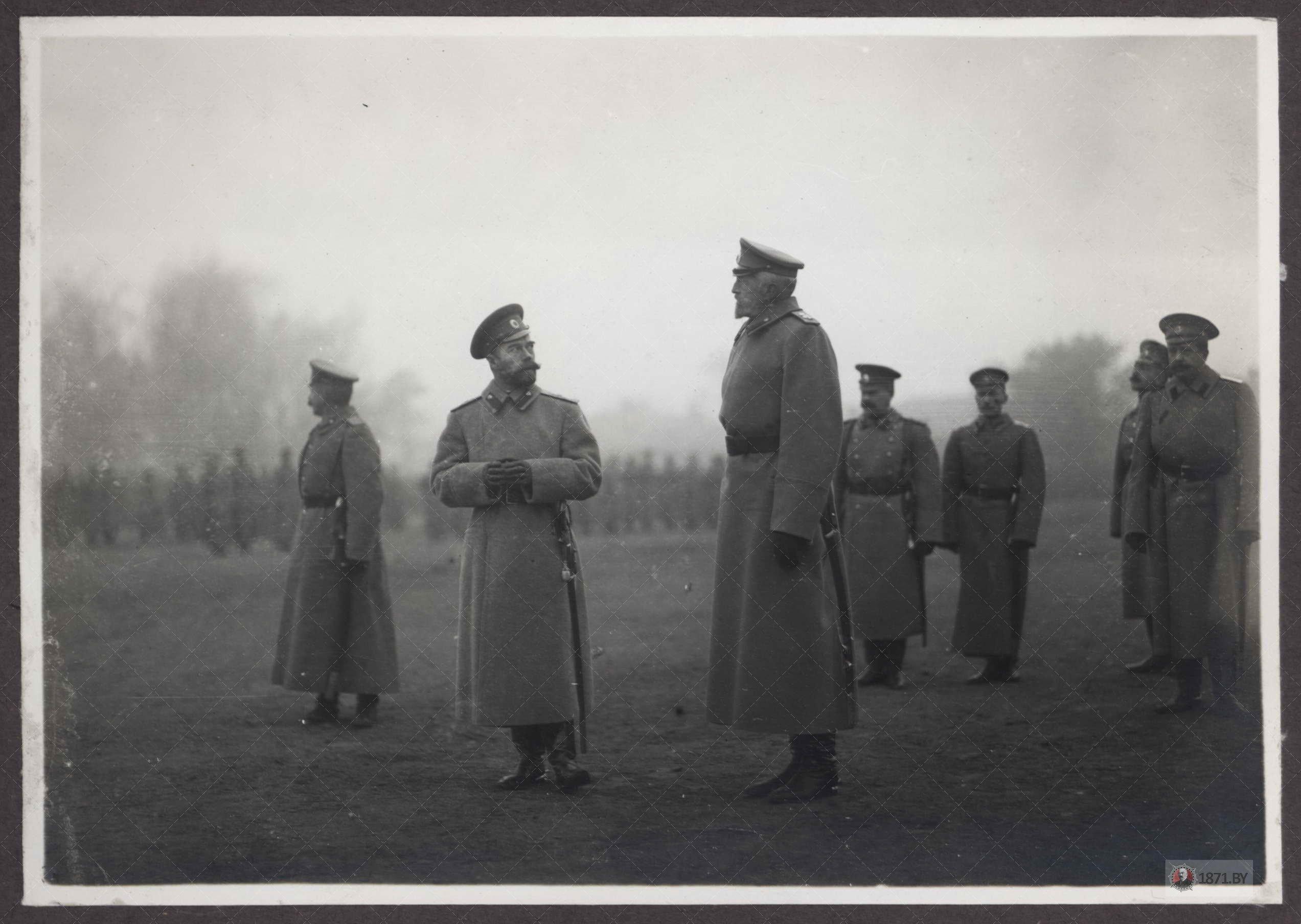Барановичи. Николай 2 и князь Николай Николаевич