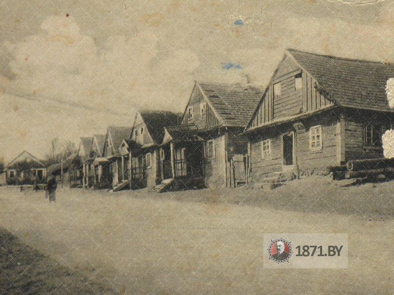 Виды улиц в деревне Молчадь начала ХХ века