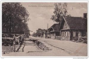 Домашевичи. Деревенская улица. Немецкая открытка 1917 года
