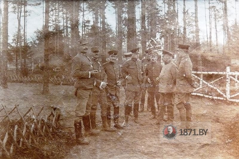 Посещение германскими офицерами 201 пехотной дивизии кладбища