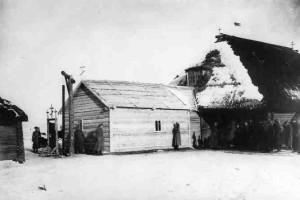 Временная полковая церковь 7-го гренадерского Самогитского полка в д. Подлесейки. Декабрь 1916 года