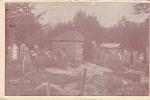 Еврейское кладбище на немецкой открытке