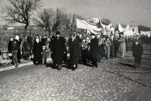 Демонстрация пионеров ко Дню птиц в Барановичах