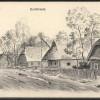 Дубово. Деревенская улица на немецкой зарисовке 1915 г.