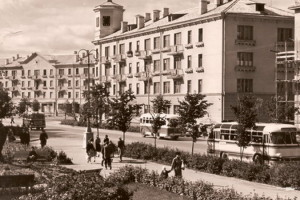 Площадь Ленина 1960-х годов
