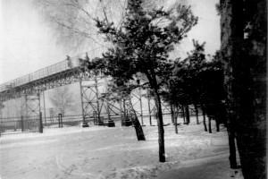 Пешеходный мост, Полесский вокзал (2 фото)