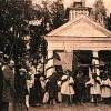 Освящение католической часовни-усыпальницы Вольских в д. Железница. Фото 1907 года