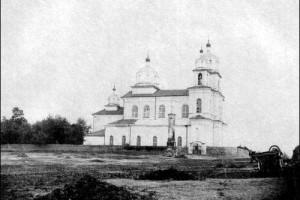 Столовичи. Вид на Свято-Успенскую церковь начала ХХ в.
