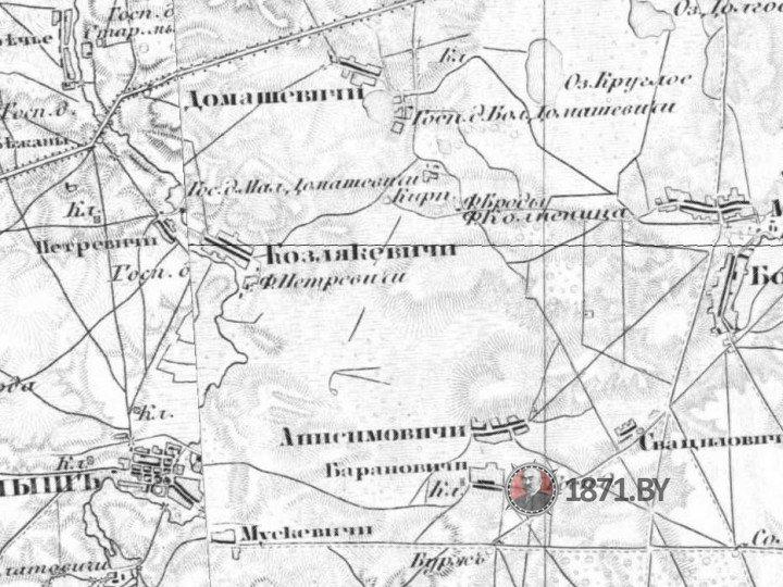 Трехверстовая карта Шуберта, Барановичи 1880