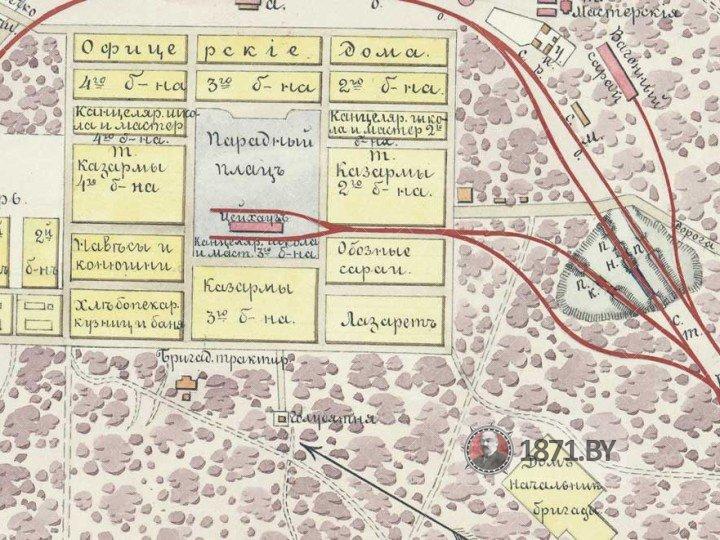 План железнодорожного полигона у станции Барановичи