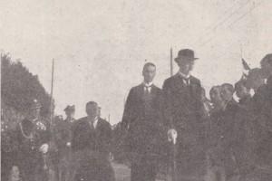 Президент проходит перед делегатами деревень. Барановичи, 1924