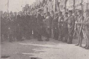 Президент принимает рапорт на вокзале. Барановичи, 1924