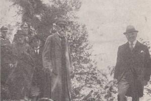 Президент исследует берега озера Свитязь, Барановичи-Новогрудок, 1924