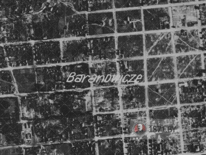 Аэрофотосъемка города Барановичи 26 июля 1944
