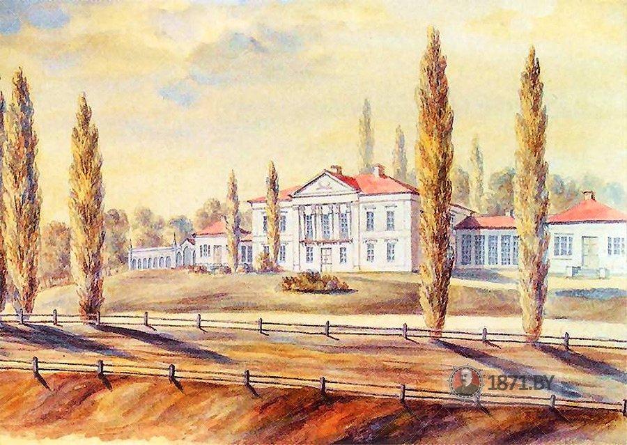 Дворец Радзивиллов на рисунке Н. Орды