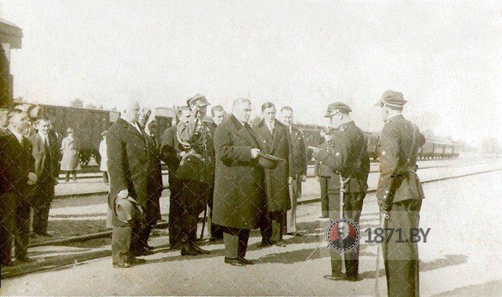 Встреча делегации на Полесском вокзале