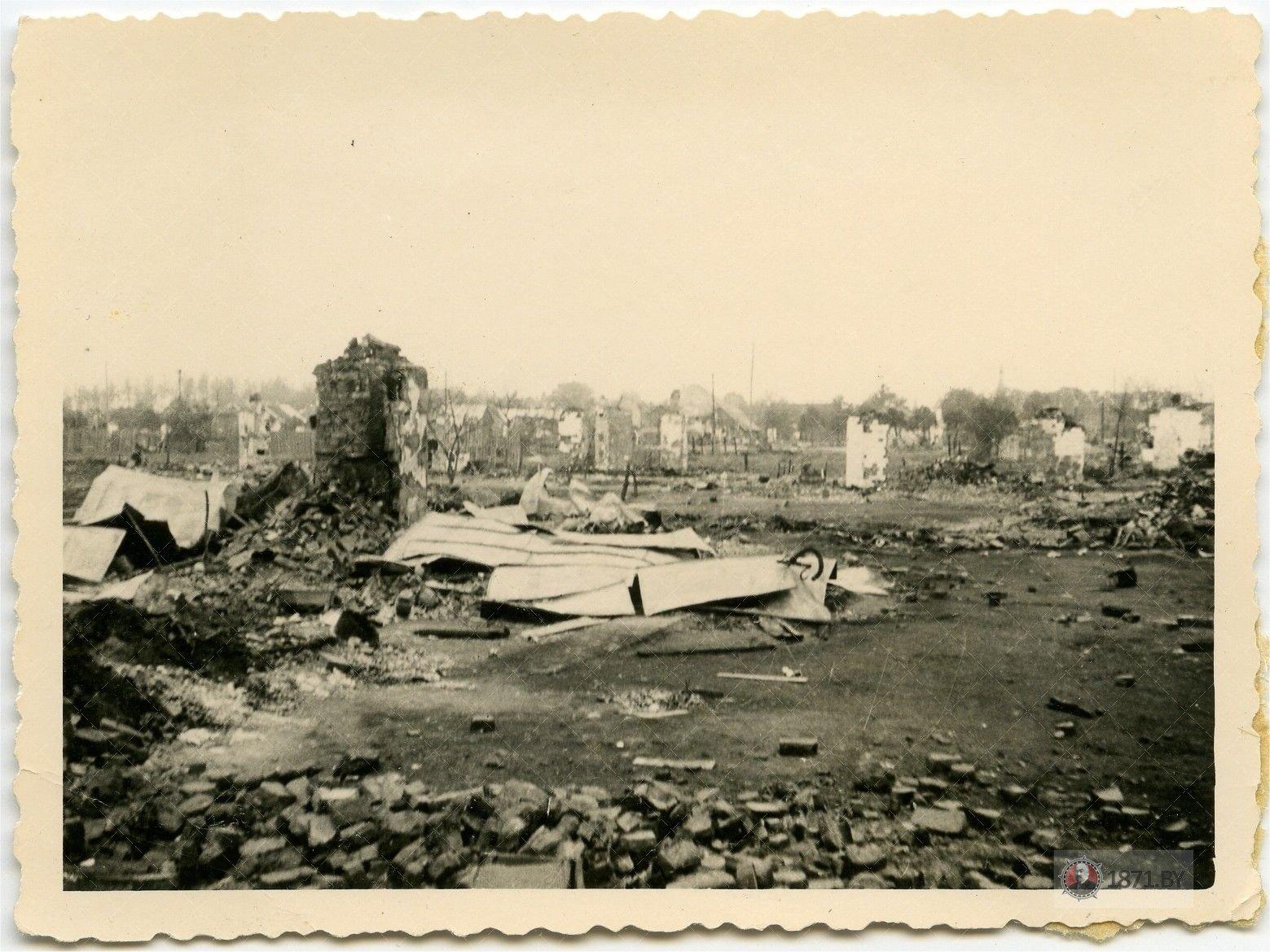 Барановичи, Разрушенные городские кварталы, 1941