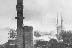 Фото 1944 года, вид на разрушенные кварталы центра города Барановичи